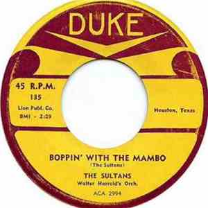 The Sultans  - Boppin' With The Mambo / What Makes Me Feel This Way download free